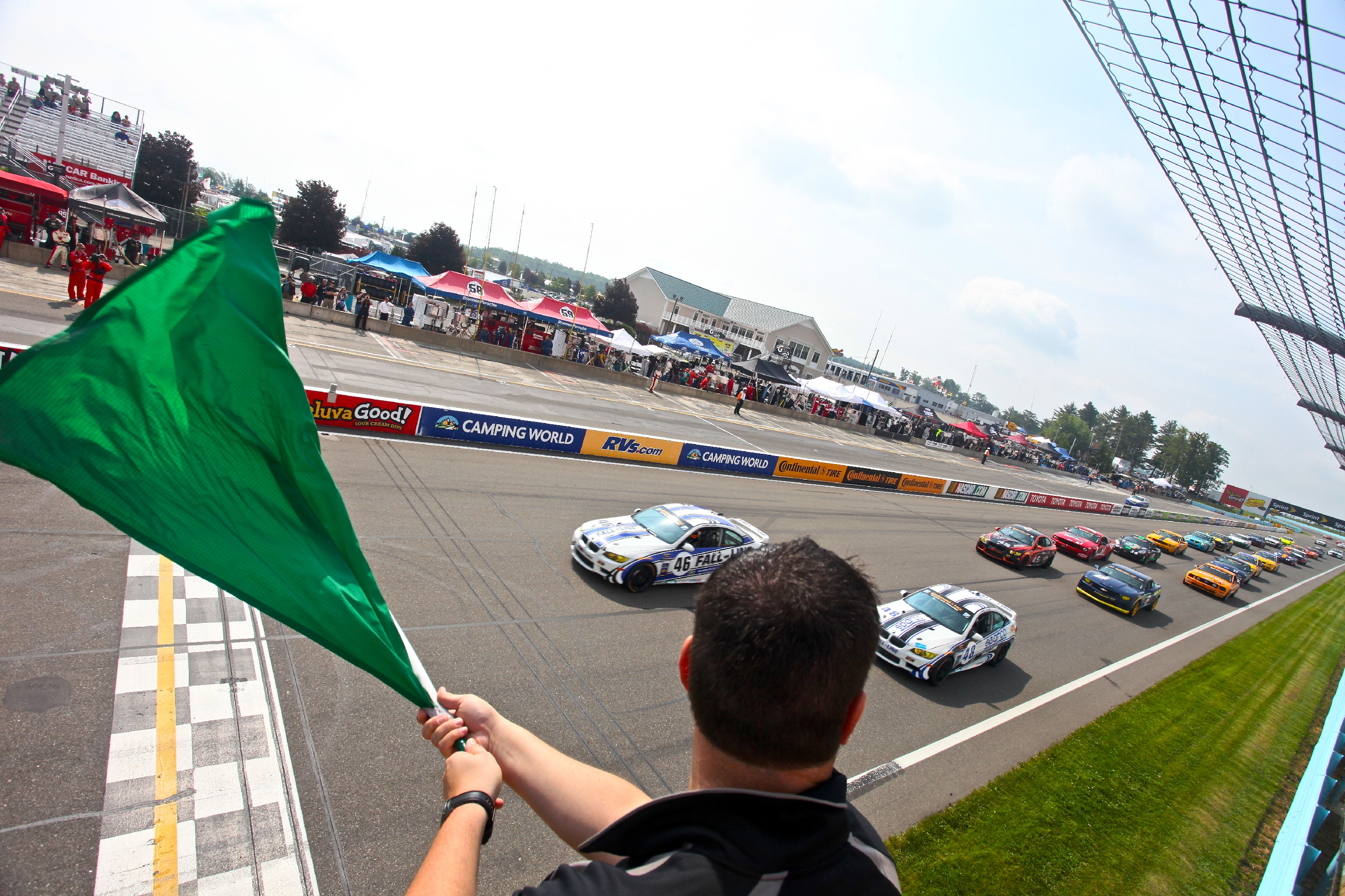 Green Flag during NASCAR race